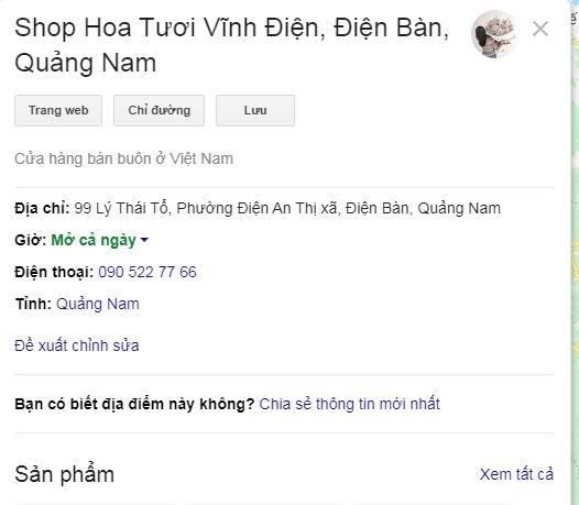 tao google map cho cac shop hoa